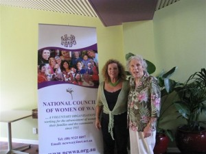 Elizabeth with Noelene Hartley