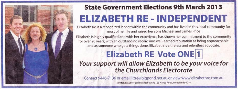 Elizabeth Re Independent