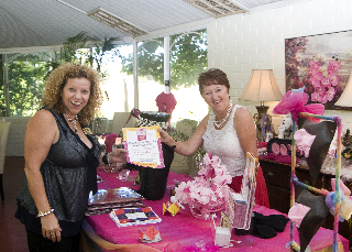Elizabth Re and Kath Mazzella at Princesses, Petticoats & Pearls Event