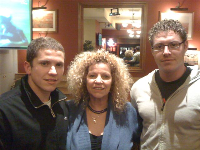 Elizabeth Re and her sons, Michael and James