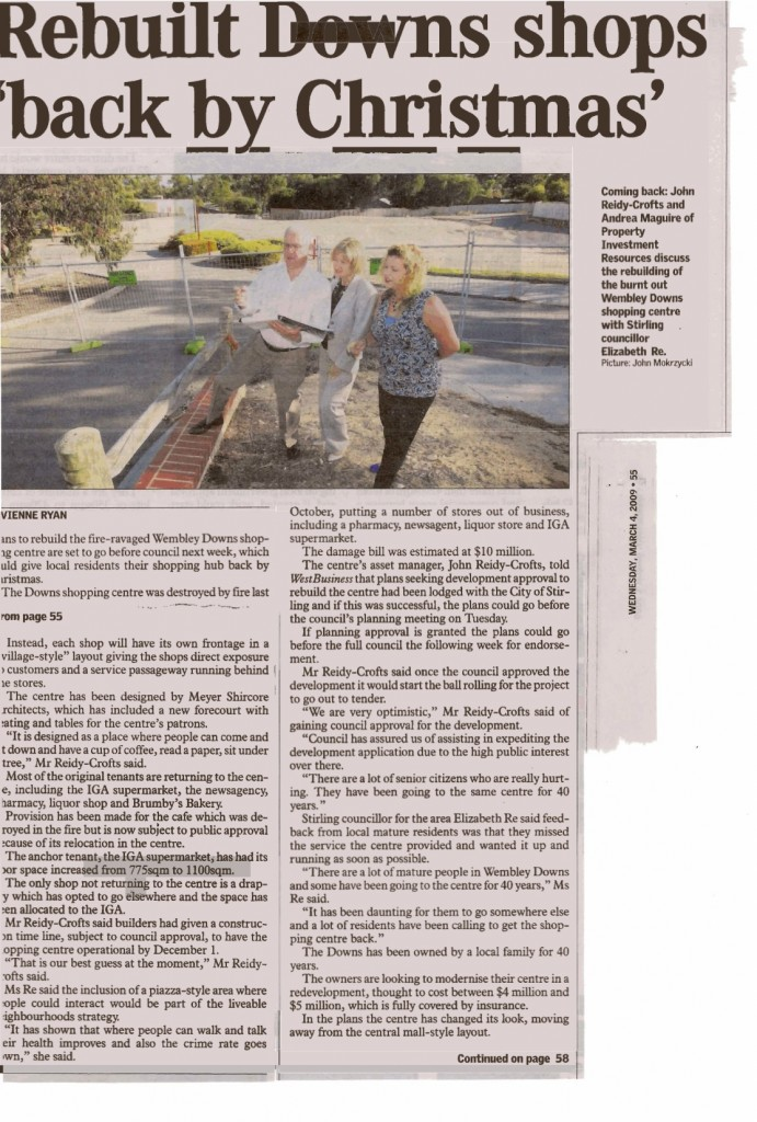 Newspaper Article from West Australian Newspaper Group