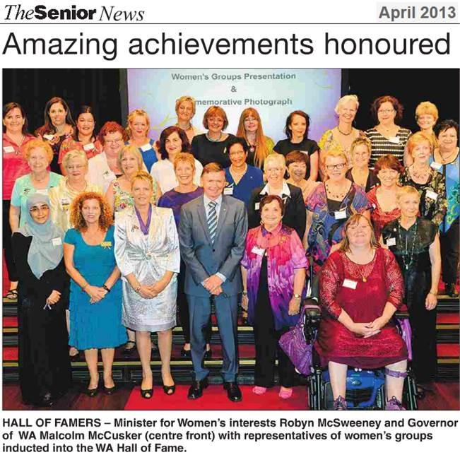 2013 04 The Senior News Hall of Fame