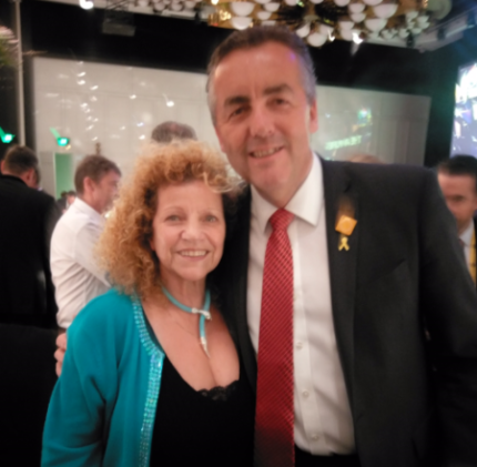 2017 10 11 Elizabeth with Darren Chester Federal Minister Infrastructure and Transport