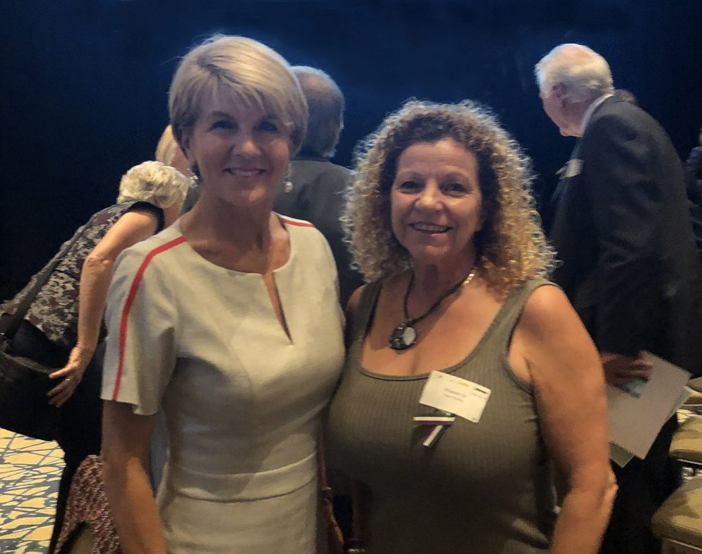 2019 03 01 BCEC with Julie Bishop b